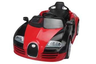 Детский автомобиль Bugatti 1188 на резиновых колесах.
