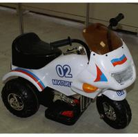 Bugati 20003 RD. Детский мотоцикл Bugati 6v белый МИЛИЦИЯ 20003 RD.