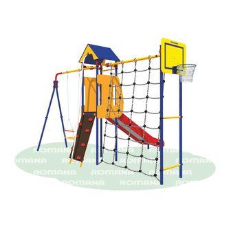 Детский спортивный комплекс (ДСК) «Карусель 3.3.14.27» Замок дачный.