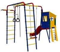 Детский спортивный комплекс (ДСК) «Карусель 3.3.19.02» Веселая лужайка с домиком дачный.