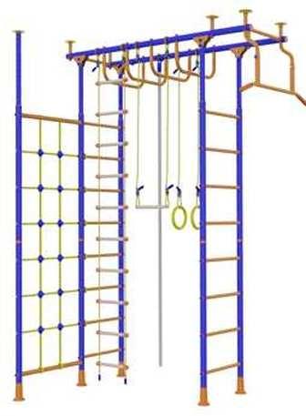 ДСК Веселый непоседа 4-х опорный с рукоходом и сеткой для лазанья