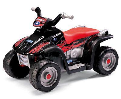 Peg Perego Polaris SportsMan 400 NERO. Детский квадроцикл с удлиненным сиденьем.