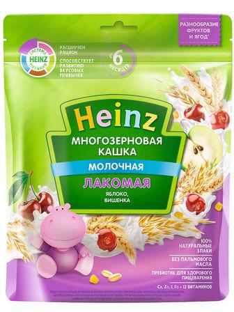 Каша молочная Heinz лакомая многозерновая яблоко, вишенка, с 6 мес., 170гр