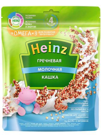 Каша молочная Heinz гречневая с Омега 3, с 4 мес., 200гр