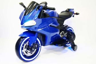 Детский электромотоцикл A001AA на резиновых колесах