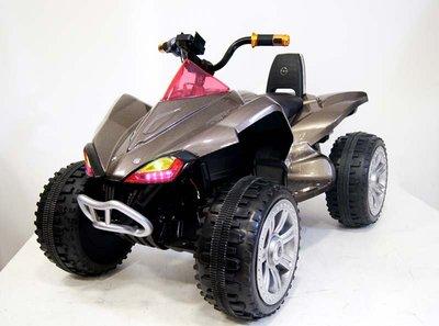 Детский квадроцикл А001МР на резиновых колесах, 24V