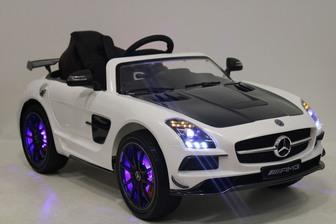 Детский электромобиль Mercedes-Benz SLS A333AA VIP на полностью резиновых колесах