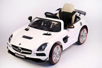 Детский электромобиль Mercedes-Benz SLS A333AA VIP на резиновых колесах.