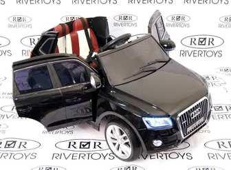 Детский электромобиль AUDI Q5 на резиновых колесах.