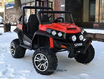Двухместный полноприводный электромобиль BARTY BUGGY F007 (4*4) на резиновых колесах