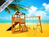 """Детская деревянная игровая площадка-корабль Самсон """"Баунти""""."""