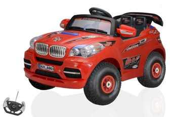 Детский электромобиль-джип BMW X8 на резиновых, надувных колесах.