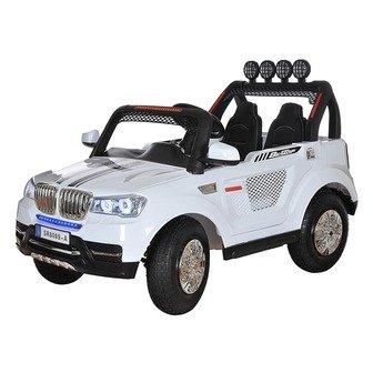 Двухместный джип BMW 4х4, 24V на резиновых надувных колесах.