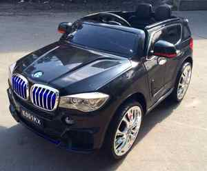Детский джип BMW X5 E001КХ на резиновых колесах.
