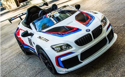 BMW M6 GT3 Z6666R. Детский автомобиль на резиновых колесах.
