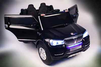 Детский двухместный электромобиль 4х4, BMW T001TT на резиновых, надувных колесах.