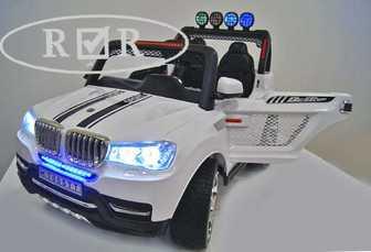 Детский двухместный электромобиль 24V, 4х4, BMW T005TT на резиновых колесах