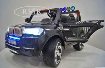 Детский двухместный джип 24V, 4х4, BMW T005TT на резиновых колесах.