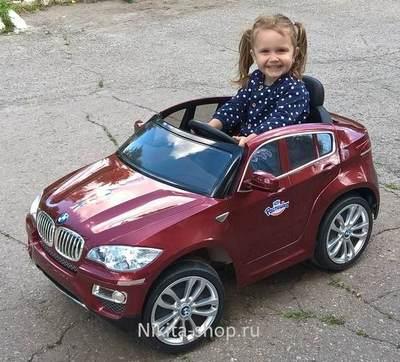 Детский электромобиль BMW-X6 (ЛИЦЕНЗИОННАЯ МОДЕЛЬ) на резиновых колесах.