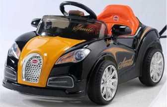 Детский электромобиль Bugatti EC-HL938 на резиновых надувных колесах.