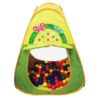 Игровой домик Треугольный + 100 шариков CBH-20