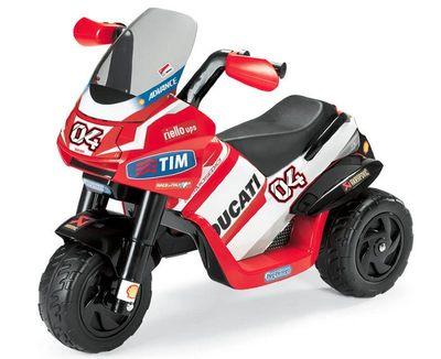 Peg-Perego Ducati Desmosedici. Электромотоцикл с защищенным двигателем.