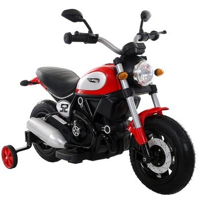 Детский мотоцикл Qike Чоппер красный - QK-307-RED.
