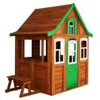 Детский домик Можга Цветочный цвет зеленый (Р920-3)