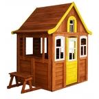 Детский домик Можга Цветочный цвет желтый (Р920-4)
