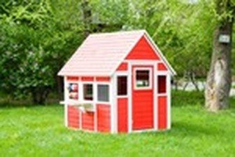 Детский домик игровой Люкс окрашенный CHLUX01