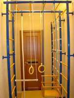 """ДСК """"Городок"""" П-образный с сеткой с креплением к стене.Детский спортивный комплекс  Городок  П-образный с сеткой с креплением к стене."""