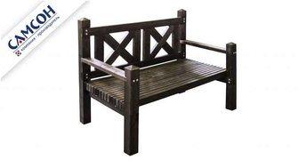 Деревянная двухместная скамейка Самсон.