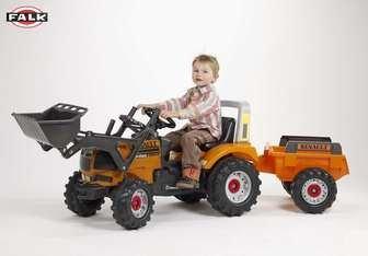 Детский педальный трактор с прицепом и ковшом FAL925AM FALK