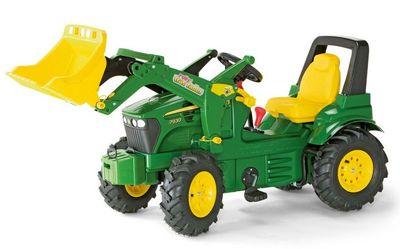 Rolly Toys Farmtrac John Deere 710126. Детский педальный трактор с ручным тормозом.