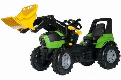 Rolly Toys Farmtrac John Deere 710133. Педальный трактор на надувных колесах.
