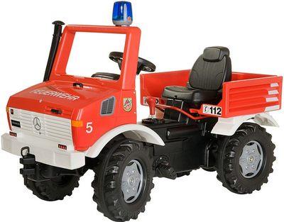 Rolly Toys Unimog Fire 036639. Педальная детская машинка с мигалкой.