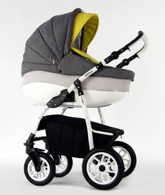 Farfello FORTUNA F-line. Модульная коляска 2 в 1 на надувных колесах.