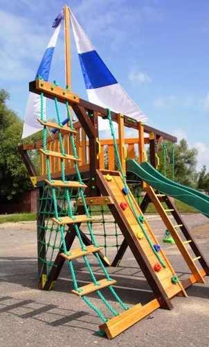 """Детская деревянная площадка для дачи Самсон""""Фортуна""""."""