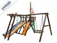 Детская деревянная игровая площадка-корабль Самсон «Фрегат».