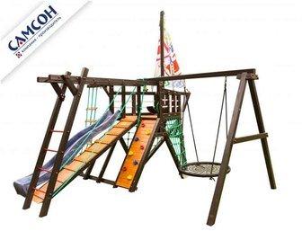 Детская спортивно-игровая деревянная площадка-корабль Самсон «Фрегат».