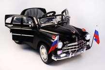 Детский автомобиль ГАЗ Победа С021СР на резиновых колесах с пультом управления
