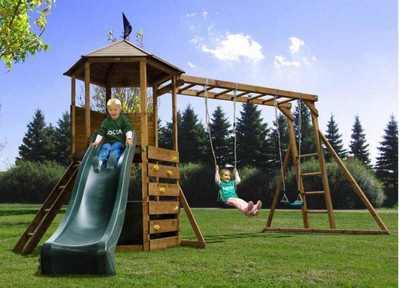 Детский игровой комплекс для дачи «Гекса Форт».