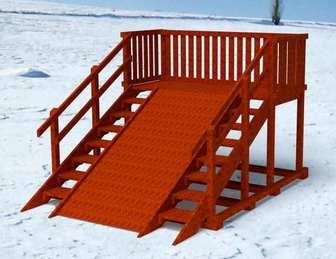 """Горка Самсон """"Гренландия"""" детская деревянная, предназначена для зимних развлечений."""