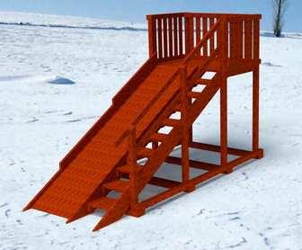 """Горка Самсон """"Исландия"""" детская деревянная, предназначена для зимних развлечений."""