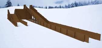 """Горка Самсон """"Арктика-Т"""" детская деревянная, предназначена для зимних развлечений."""