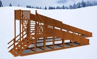 """Горка Самсон """"Арктика"""" детская деревянная, предназначена для зимних развлечений"""