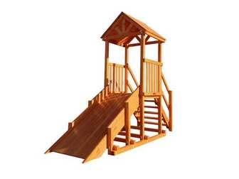 """Горка Самсон """"Ямал"""" детская деревянная, предназначена для зимних развлечений."""