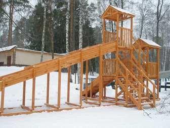"""Горка Самсон """"Зима"""" детская деревянная, предназначена для зимних развлечений."""