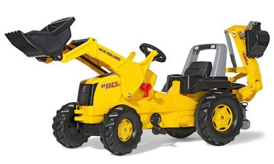 Rolly Toys Junior New Holland Construction 813117. Педальный трактор.