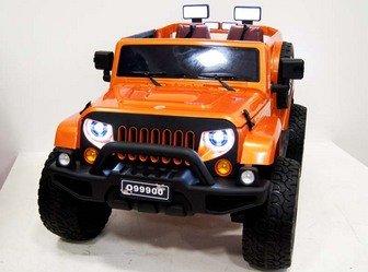 Детский внедорожник JEEP WRANGLER O999OO 4*4 на резиновых колесах